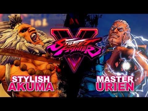 【スト5】Sako (Akuma) VS Inaba (Urien) SF5 * FT3 (First to 3) x2