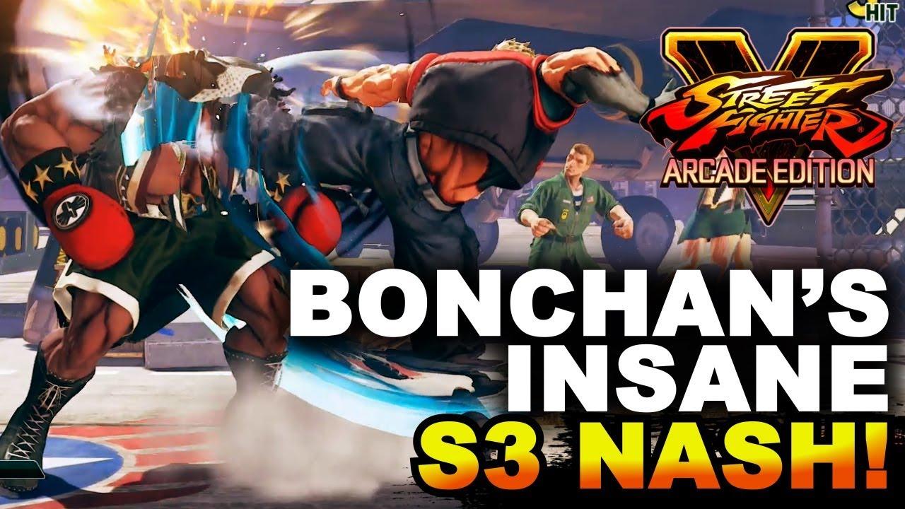 【スト5】SFV AE * Bonchan's Insane Season 3 Nash