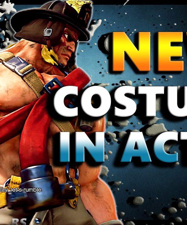 【スト5】SFV – New Costumes In ACTION ! * Ryu Alex Juri R.Mika Chun Li * – SF5