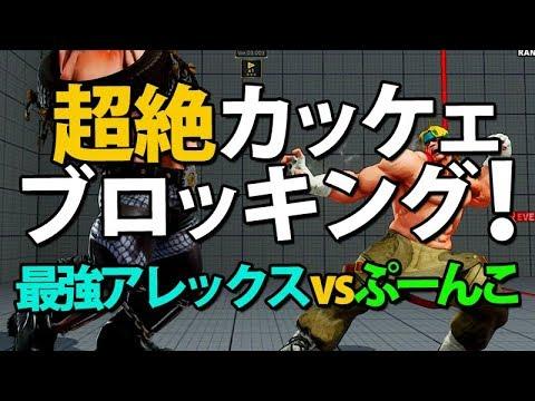 超絶かっこいいブロッキング!最強アレックス対ぷーんこ ストリートファイター5