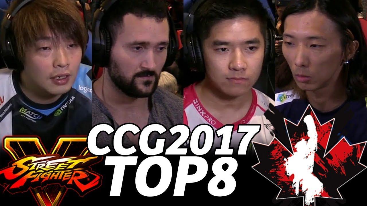 【スト5】CANADA CUP 2017 SFV TOP8 (TIMESTAMP) ItaZan JWong Dogura NuckleDu Yukadon ProblemX GO1 801Strider