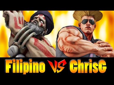 【スト5】Filipino Champ(DHALSIM) vs ChrisG(GUILE)