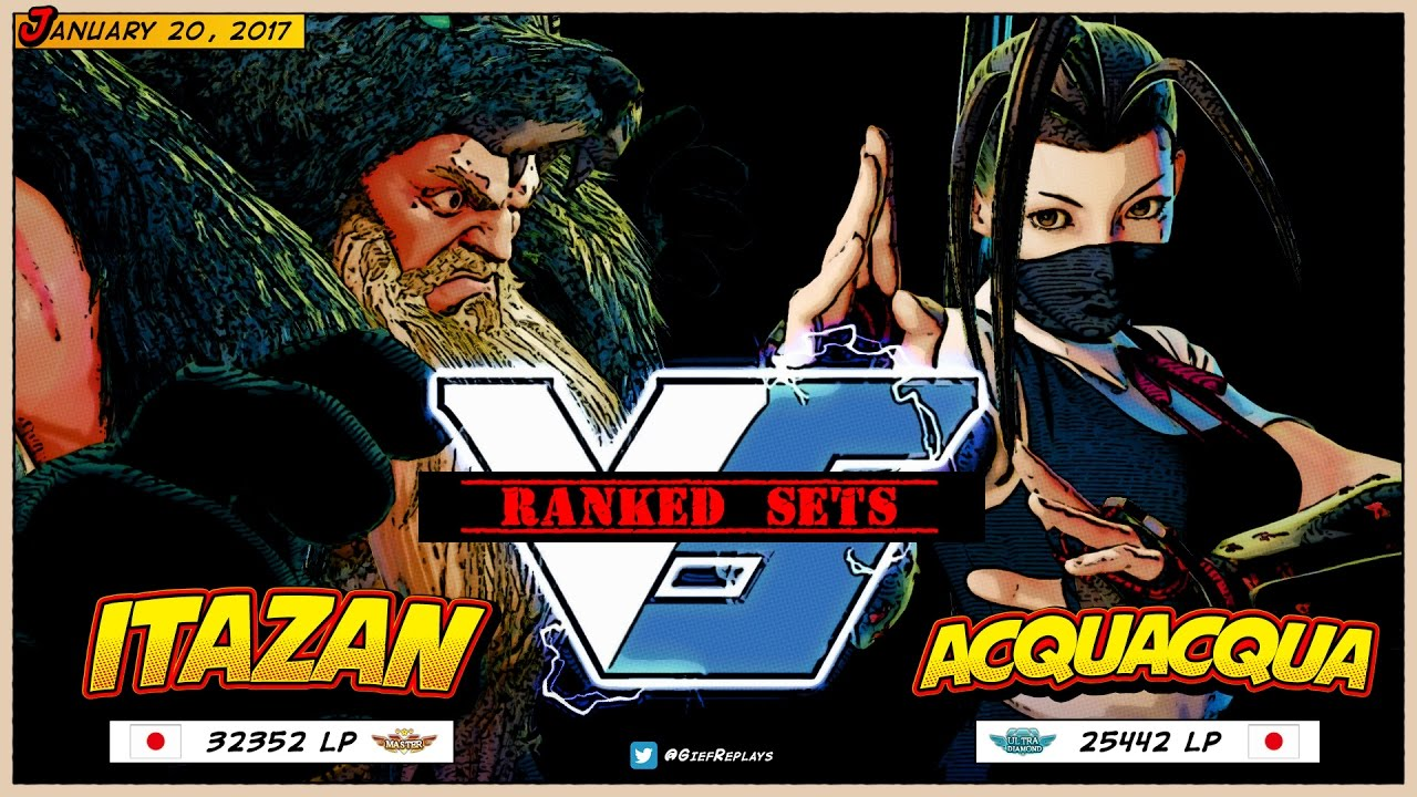 【スト5】Itazan (Zangief) vs ACQUACQUA (Ibuki) ► Ranked ► 01.20.17