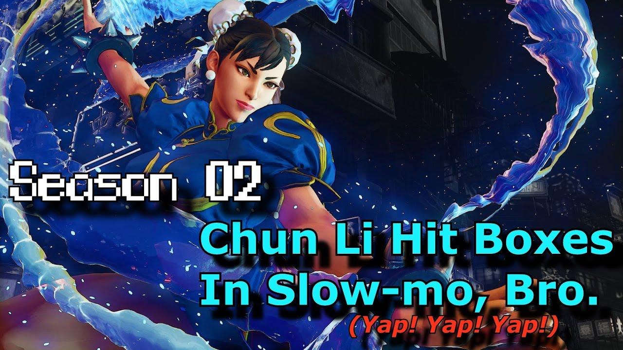 【スト5】S.02 S.F.V. Slow Motion Hit Boxes – Chun Li