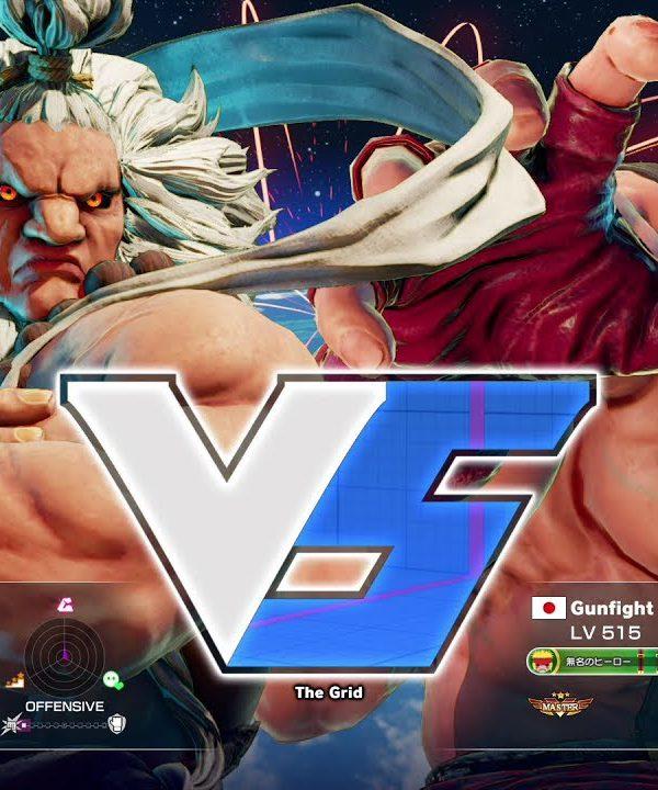 【スト5】sako(豪鬼)vs ガンファイト(アレックス)