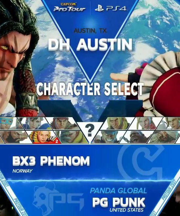【スト5】SFV: BX3 Phenom vs PG Punk – Dreamhack Austin 2017 Top 8 – CPT2017