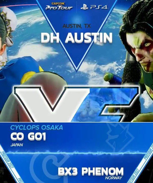 【スト5】SFV: CO GO1 vs BX3 Phenom – Dreamhack Austin 2017 – CPT2017