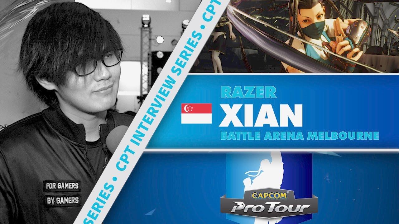 【スト5】SFV: CPT Interview Series – Xian (Battle Arena Melbourne 9)