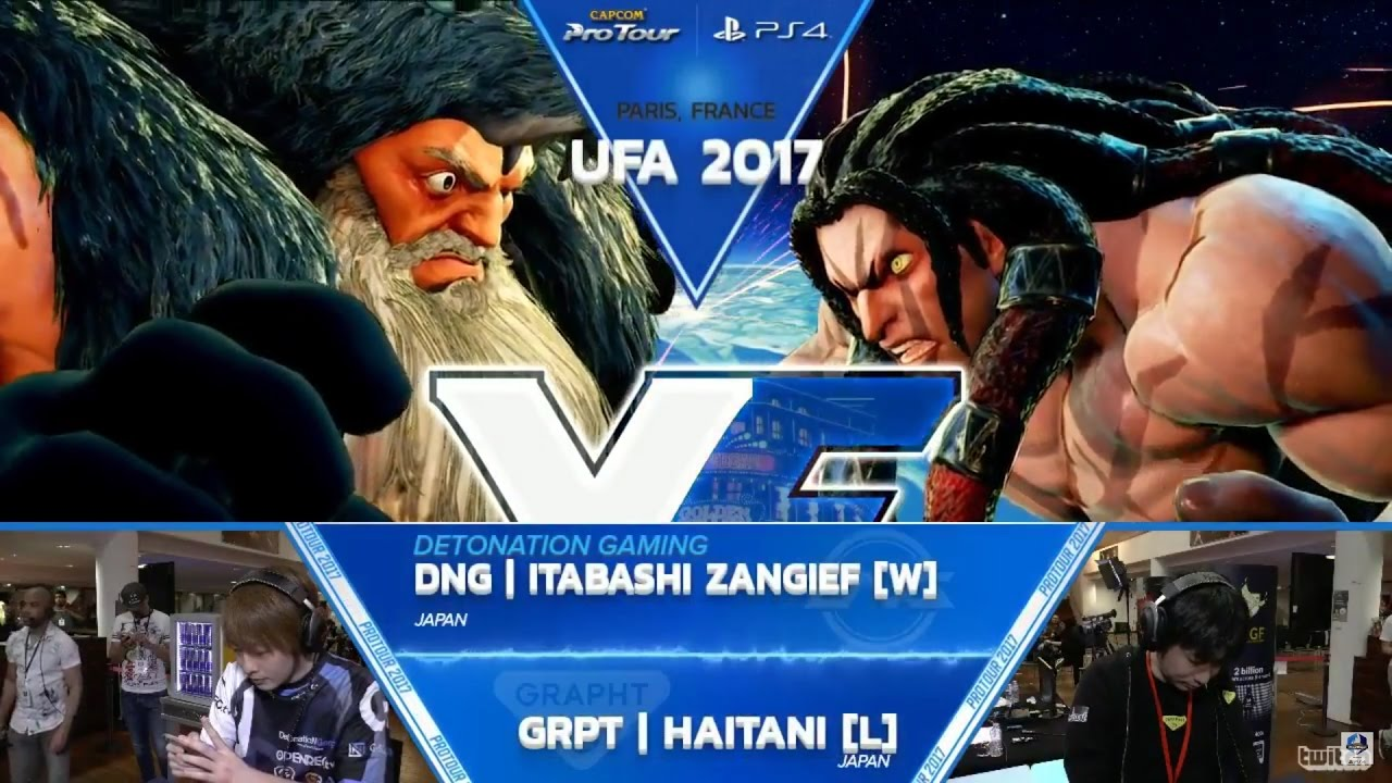 【スト5】SFV: DNG Itabashi Zangief vs GRPT Haitani – UFA 2017 Grand Final – CPT 2017