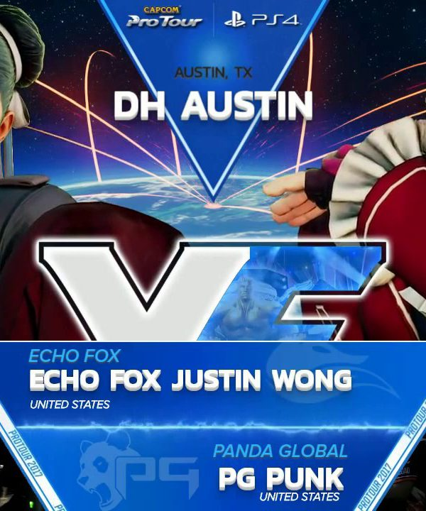 【スト5】SFV: Echo Fox Justin Wong vs PG Punk – Dreamhack Austin 2017 Top 8 – CPT2017