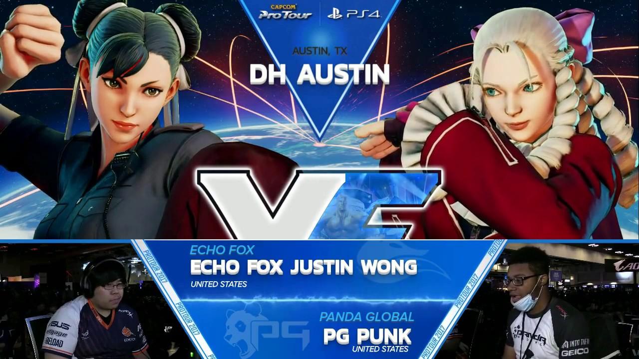 【スト5】SFV: Echo Fox Justin Wong vs PG Punk – Dreamhack Austin 2017 Top 8 – CPT2017