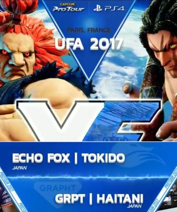 【スト5】SFV: FOX Tokido vs GRPT Haitani – UFA 2017 Top 8 – CPT 2017