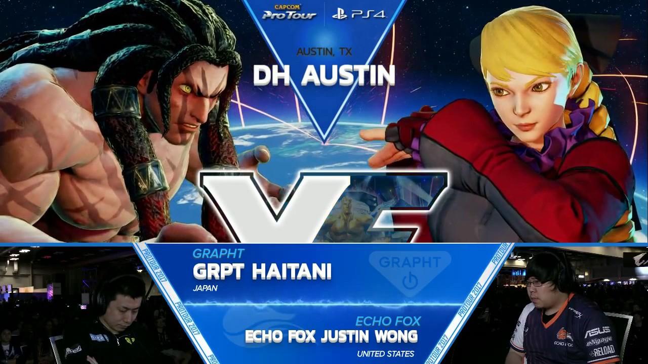【スト5】SFV: GRPT Haitani vs Echo Fox Justin Wong – Dreamhack Austin 2017 Top 8 – CPT2017