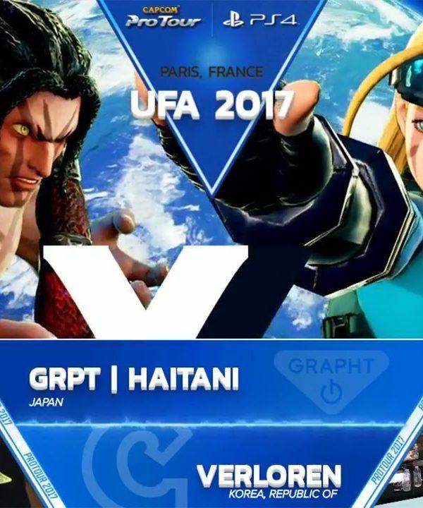 【スト5】SFV: GRPT Haitani vs Verloren – UFA 2017 Top 8 – CPT 2017