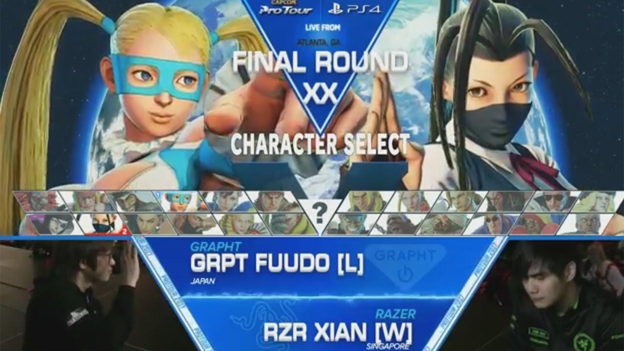 【スト5】SFV: GRPT|Fuudo vs RZR|Xian – Final Round XX Grand Finals – CPT2017