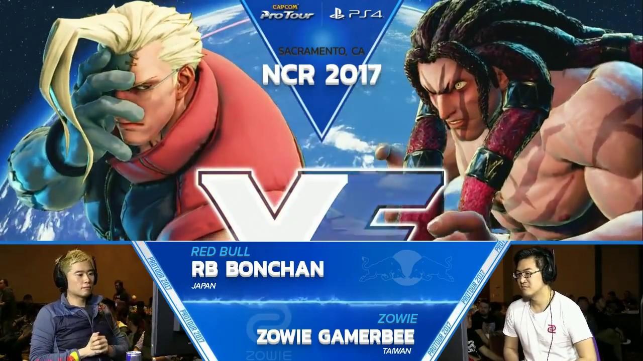 【スト5】SFV: RB Bonchan vs Zowie Gamerbee – NCR 2017 Top 8 – CPT 2017