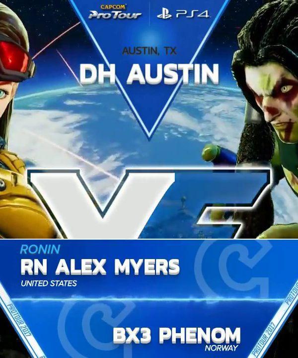 【スト5】SFV: Ronin Alex Myers vs BX3 Phenom – Dreamhack Austin Top 8 – CPT2017
