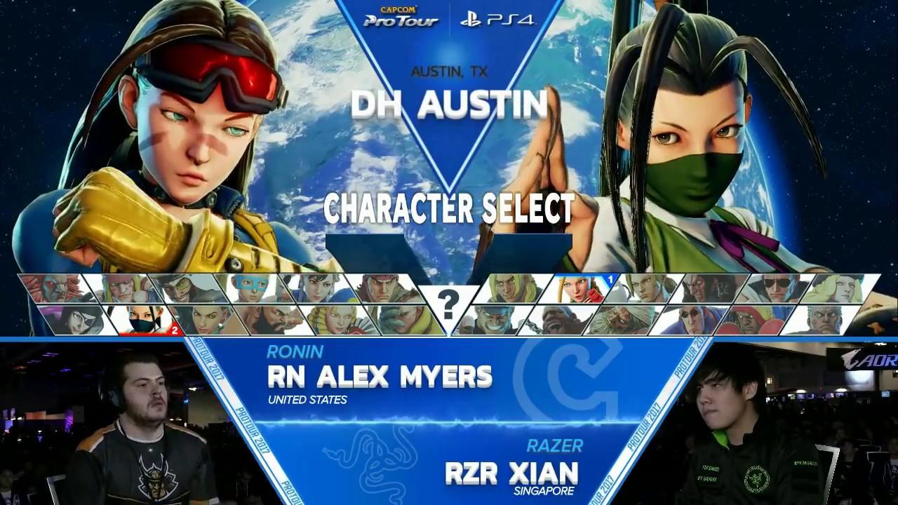 【スト5】SFV: Ronin Alex Myers vs RZR Xian – Dreamhack Austin 2017 Top 8 – CPT2017