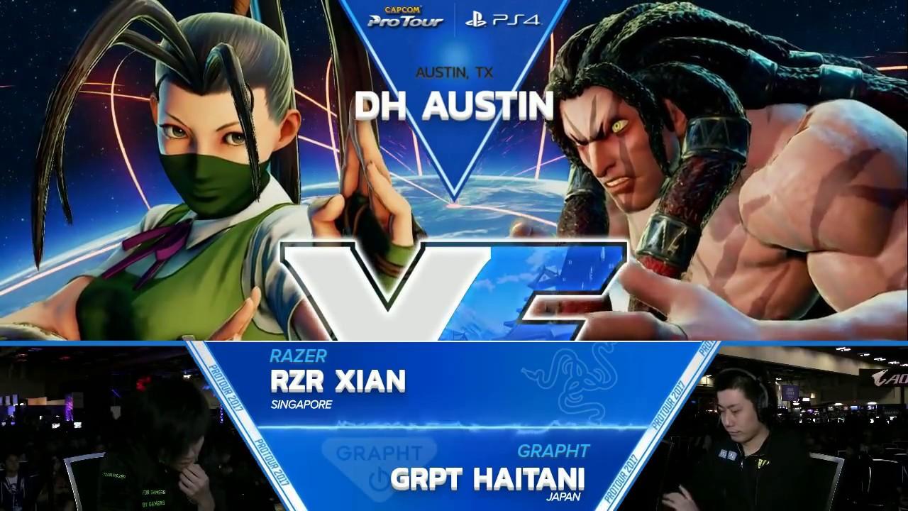 【スト5】SFV: RZR Xian vs GRPT Haitani – Dreamhack Austin 2017 Winners Finals – CPT2017