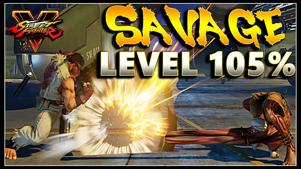 【スト5】SFV – Savage Level 105%   FT Ryu Urien Abigail & More – Dirt Compilation – SF5
