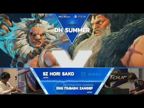 【スト5】SFV: SZ Hori Sako vs DNG Itabashi Zangief – Dreamhack Summer 2017 Top 8 – CPT 2017