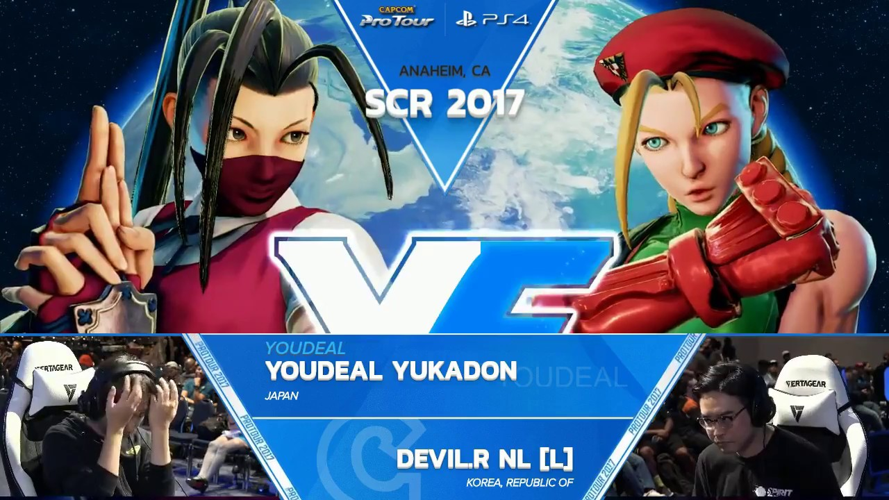 【スト5】SFV: YOUDEAL Yukadon vs. Devil.R NL – SCR 2017 Grand Final – CPT 2017