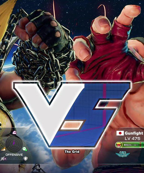 【スト5】クラッシャー(バーディ)vs ガンファイト(アレックス)