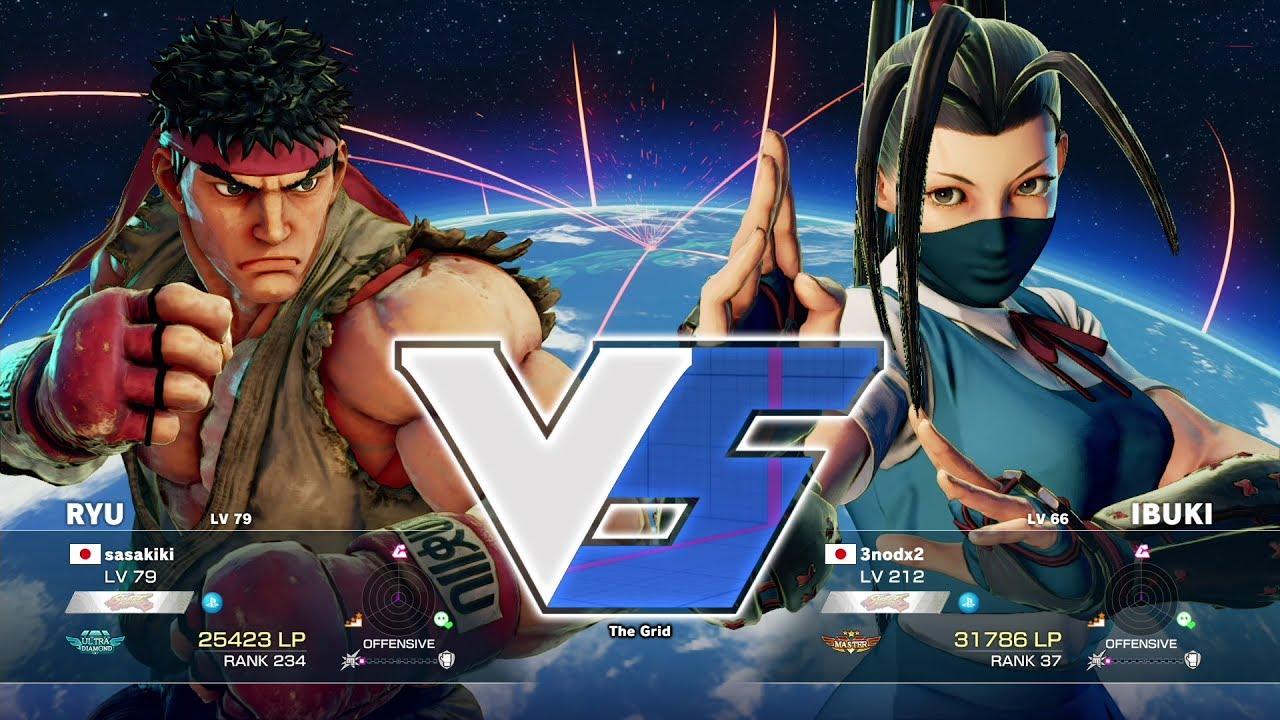 【スト5】ささき(リュウ)vs 3nodx2(いぶき)
