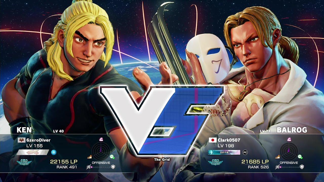【スト5】えいた(ケン)vs Clark0507(バルログ)
