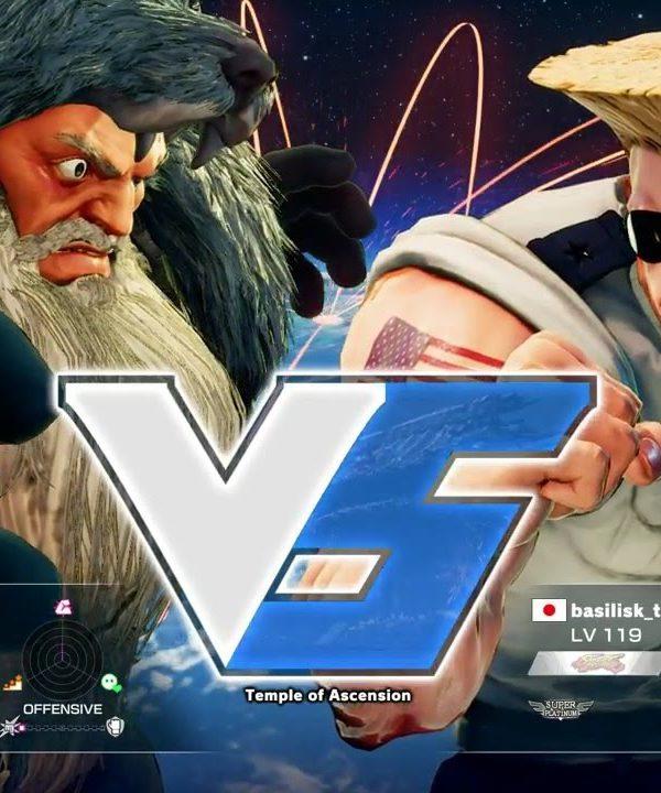 【スト5】板ザン(ザンギエフ)vs GO1(ガイル)