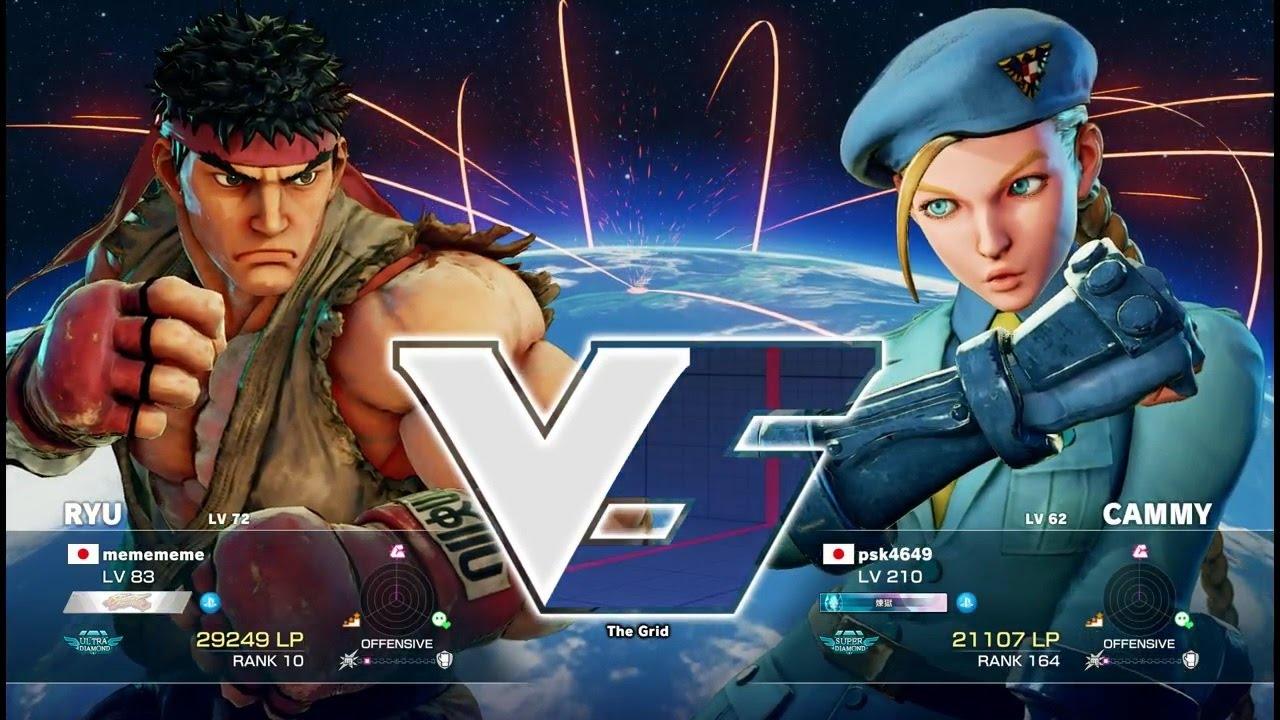 【スト5】ウメハラ(リュウ)vs Pすけ(キャミィ)