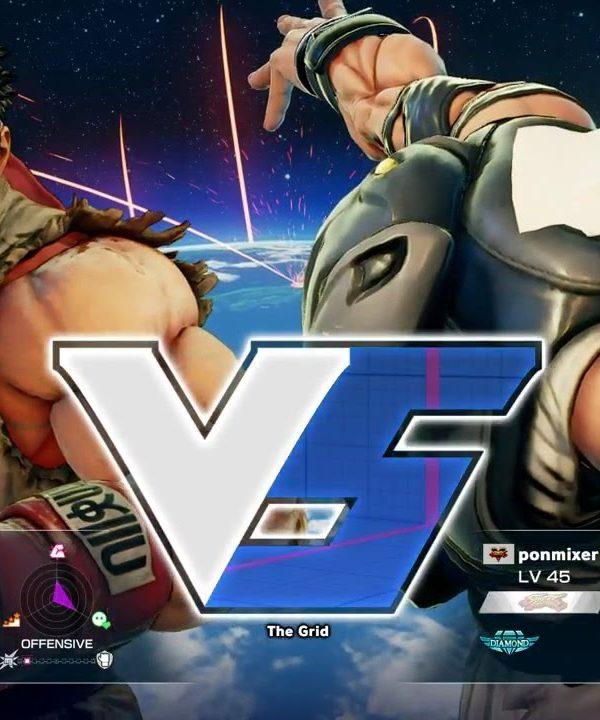 【スト5】ウメハラ(リュウ)vs ponmixer(ラシード)
