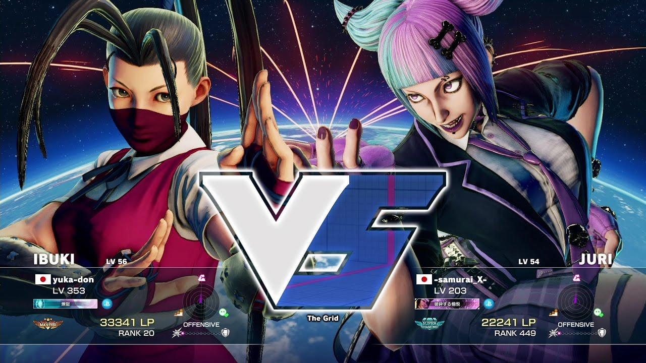 【スト5】ゆかどん(いぶき)vs -samurai_X-(ジュリ)