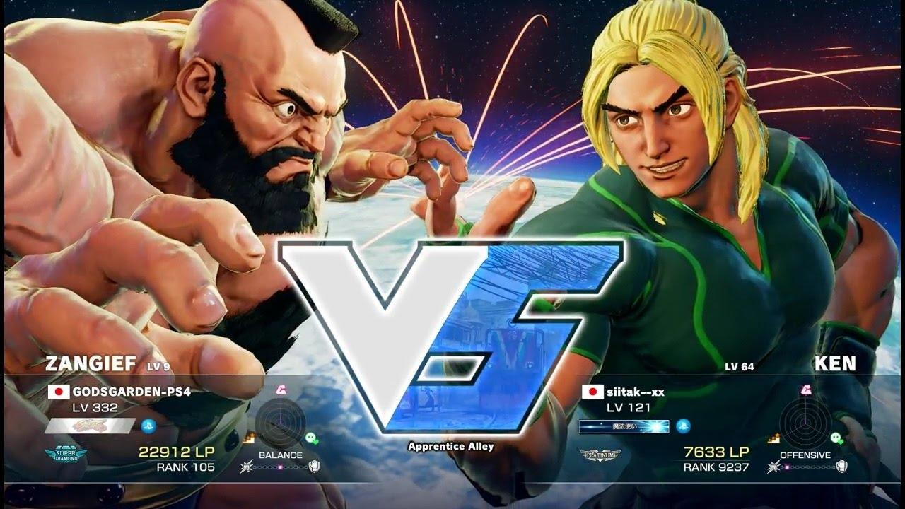 【スト5】板ザン(ザンギエフ)vs siitak–xx(ケン)