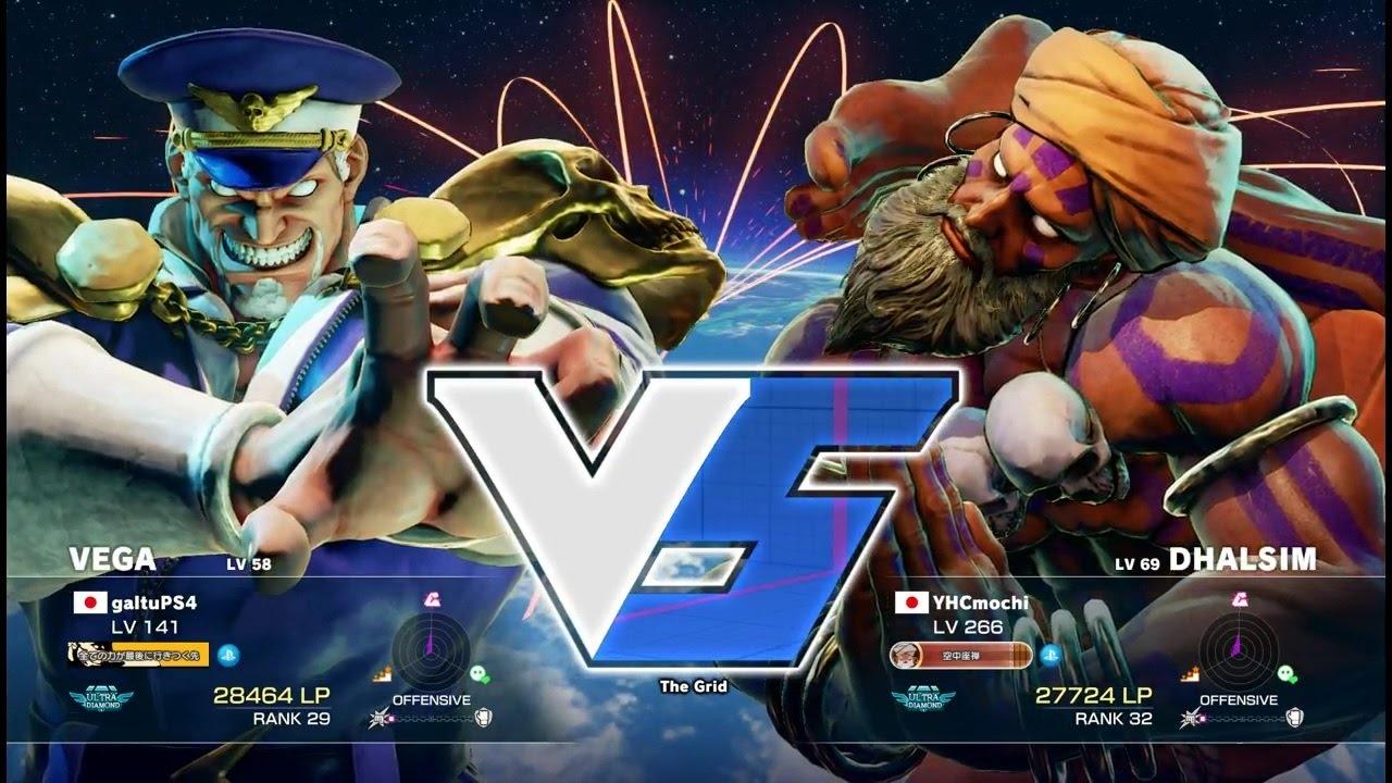 【スト5】ガルツ(ベガ)vs YHC餅(ダルシム)