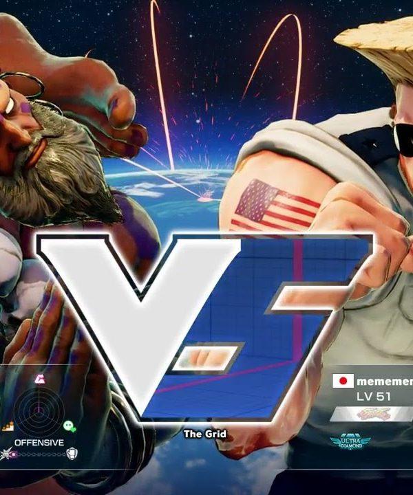 【スト5】YHC餅(ダルシム)vs ウメハラ(ガイル)